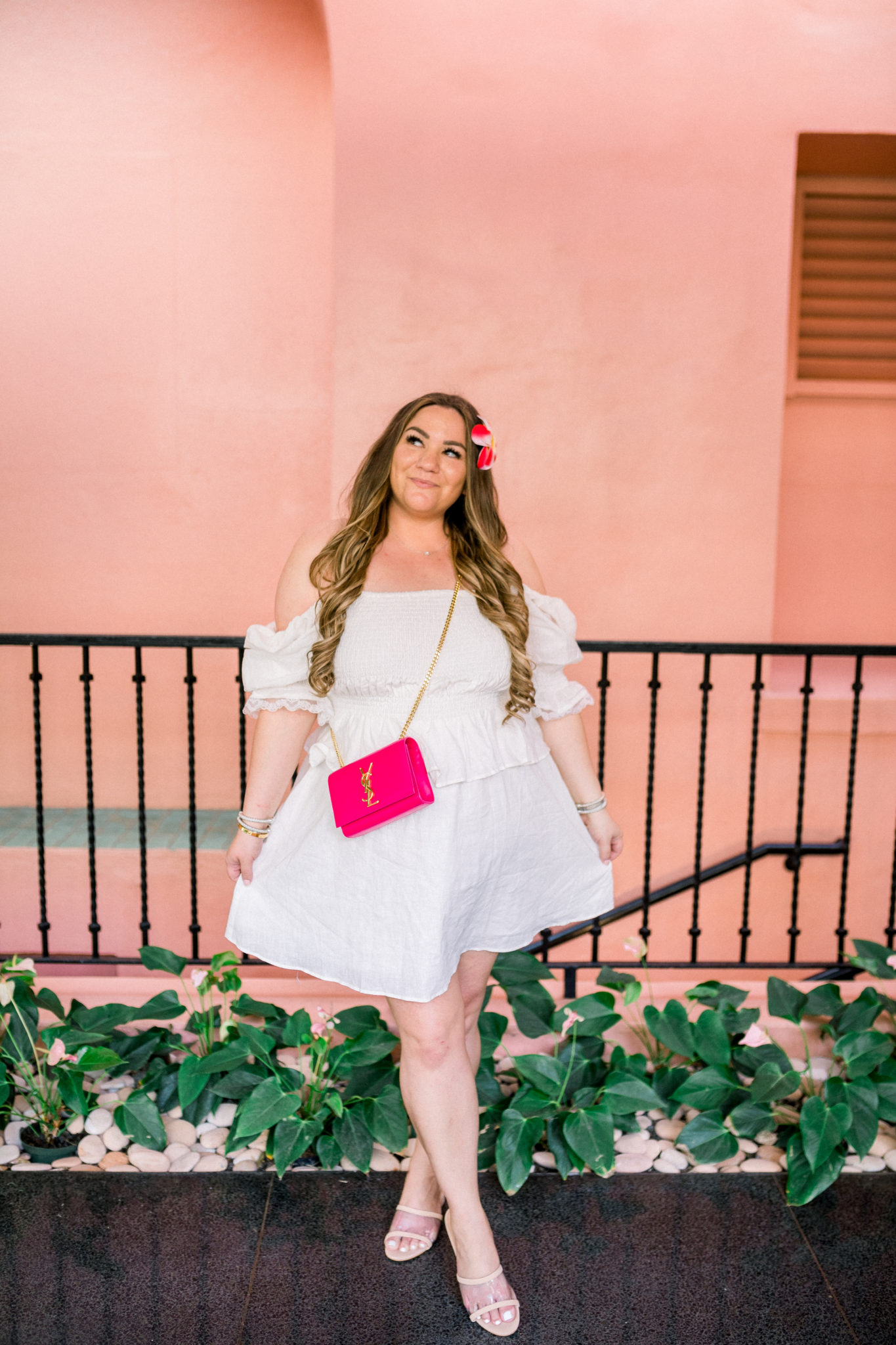 missyonmadison, missyonmadison blog, la blogger, missyonmadison outfit inspo, missyonmadison instagram, lpa dress, lpa revolve, revolve around the world, ysl pink bag, ysl bag, raye sandals, white dress, spring style, spring 2020 outfit inspo, royal hawaiin hotel, hawaii outfit ideas,