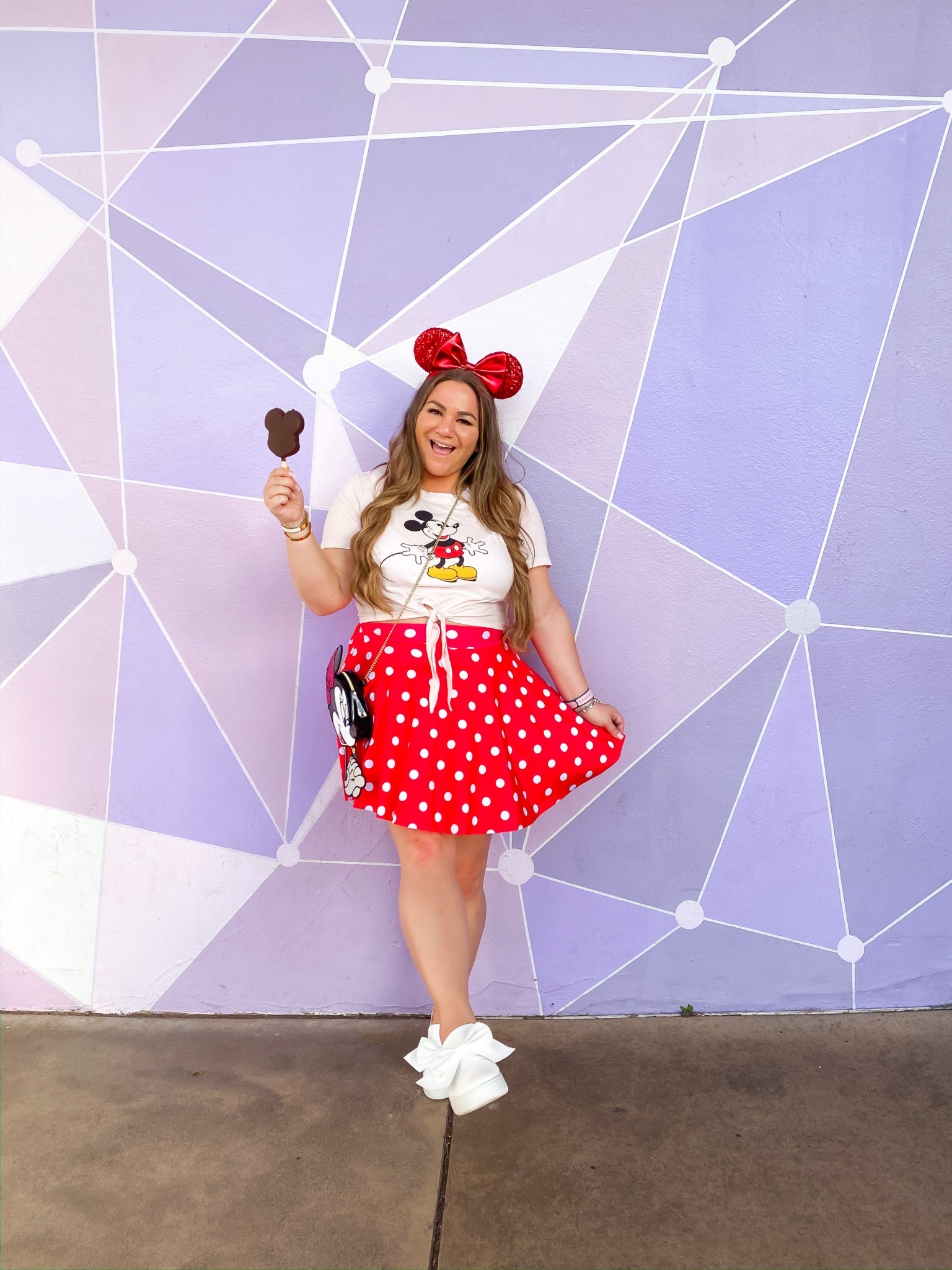 missyonmadison, missyonmadison blog, la blogger, walt disney world, disney outfit, disney outfit ideas, disney bound, what I wore at disney, polka dot dress, polka dot outfits, disneycreators trip, disney outfit inspo, style ideas for disney, style goals for disney, disney fashion, shop disney, hot topic, boxlunch, disney world looks,