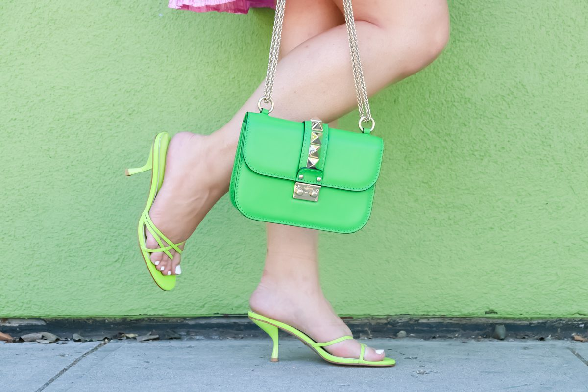 missyonmadison, missyonmadison blog, la blogger, tips to increasing confidence, how to be confident, tips to gain confidence, how to feel confident even when you are feeling down, pink revolve dress, pink revolve clothing dress, green raye the label sandals, green sandals, green valentino bag, green valentino glamlock bag, outfit inspo, ootd, fashion inspo 2020,