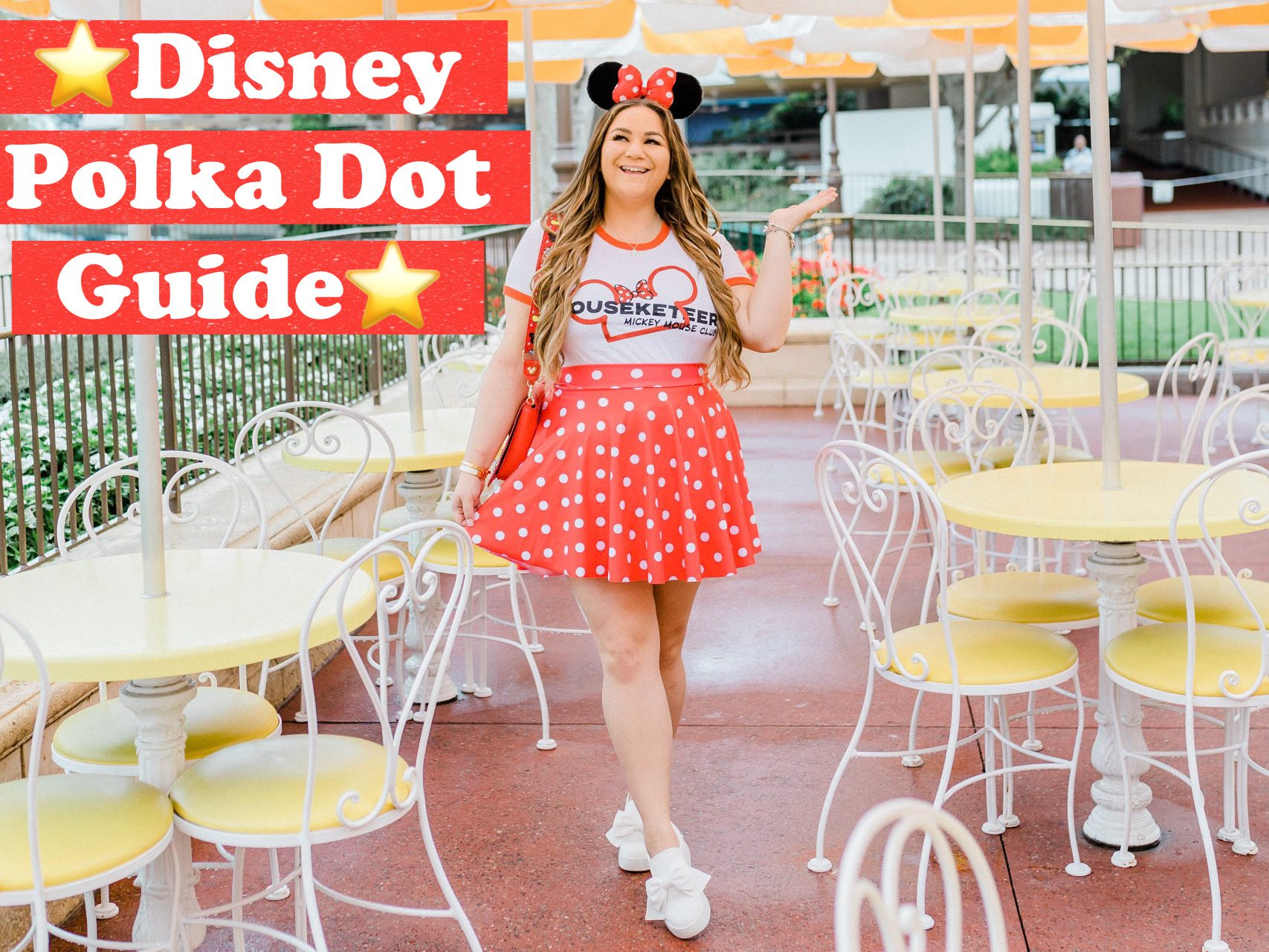missyonmadison, missyonmadison blog, disney style, disney polka dot looks, disney polka dot merch, disney fashion, minnie style, minnie mouse style, polka dot dress, polka dot ears, polka dot disney merch,
